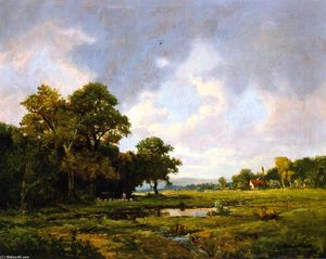 Jerome B Thompson - Paisagem pastoral