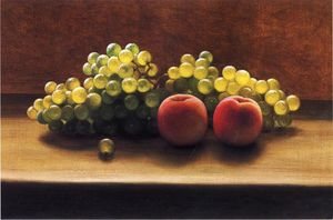 George Henry Hall - Pêssegos and Uvas on a Tabletop