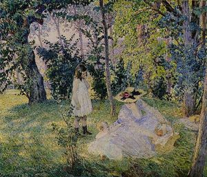 Henri Lebasque - piquenique no o  bosques