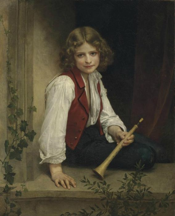 Pifferaro, óleo sobre tela por William Adolphe Bouguereau (1825-1905, France)