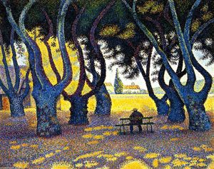 Paul Signac - plátanos , Local des lices , Saint-Tropez , Opus 242