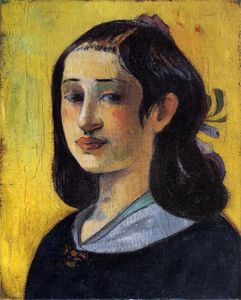 Paul Gauguin - Retrato de Aline Gauguin