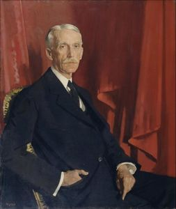 Retrato of andrew w . Mellon, 1924 por William Newenham Montague Orpen  (ordem Fine Art impressão das belas artes William Newenham Montague Orpen)