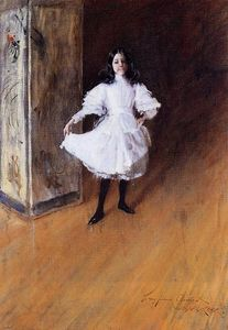 William Merritt Chase - Retrato do Artist's Filha ( Dorothy )