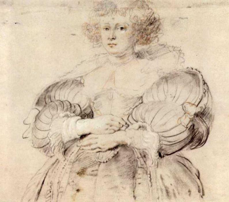 Retrato de Helena Fourment, 1638 por Peter Paul Rubens (1577-1640, Germany)
