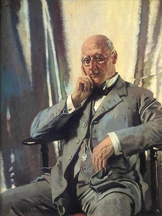 retrato do sr francis henry edward livesay por William Newenham Montague Orpen (1878-1931, Ireland) | Reprodução Da Arte | WahooArt.com