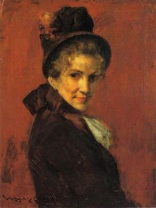 William Merritt Chase - retrato de uma woman