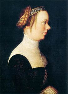 Hans Holbein The Elder - retrato de uma woman