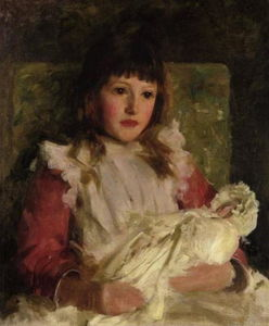 Henry Scott Tuke - Retrato estudo de molly dalyrmple