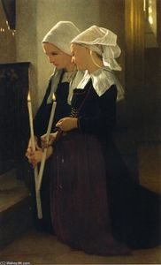 William Adolphe Bouguereau - Oração na Sainte-Anne-d Auray