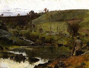 Thomas William Roberts - Um dia tranquilo no Darebin Creek