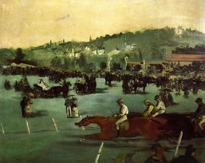 Edouard Manet - as raças no bois de boulogne