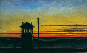 Edward Hopper - estrada de ferro do sol