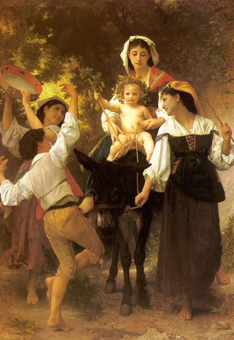 Retorno da Colheita, óleo sobre tela por William Adolphe Bouguereau (1825-1905, France)