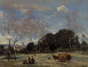 Jean Baptiste Camille Corot - Retorno do Hayers para Marcoussis