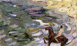 Franz Marc - Rider by the Sea