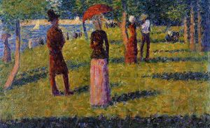 Georges Pierre Seurat - o Rope-Colored Saia