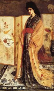 James Abbott Mcneill Whistler - rosa e prata : o princesa do terra de porcelana