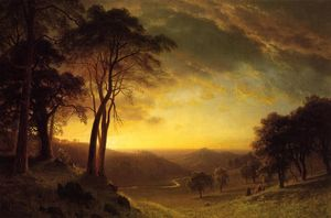 Albert Bierstadt - Sacramento River Valley