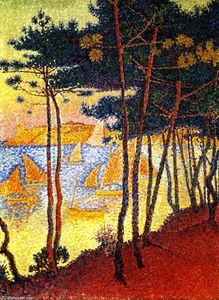 Paul Signac - Velas e Pines