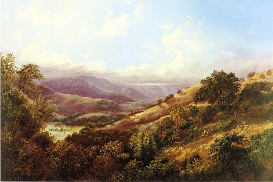 San Anselmo vale perto de San Rafael, 1869 por William Keith (1838-1911, Scotland) | Copy Pintura | WahooArt.com