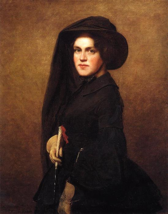 Sarah Johnson Osgood Newton, óleo sobre tela por Jonathan Eastman Johnson (1824-1906, United Kingdom)