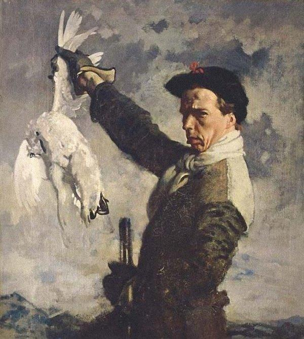 eu-portrait o  morto  Ptármiga  por William Newenham Montague Orpen (1878-1931, Ireland)