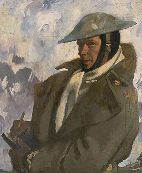 Self Portrait in Uniform, 1917 por William Newenham Montague Orpen (1878-1931, Ireland)