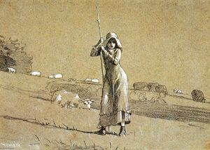 Winslow Homer - O Shepherdess