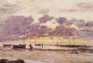 Eugène Louis Boudin - As costas do Sainte Adresse no crepúsculo