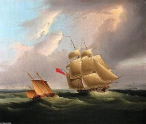 James Edward Buttersworth - A Sloop-of-War