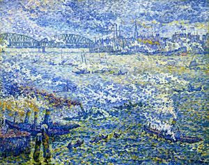 Paul Signac - Steamboats, Roterdão