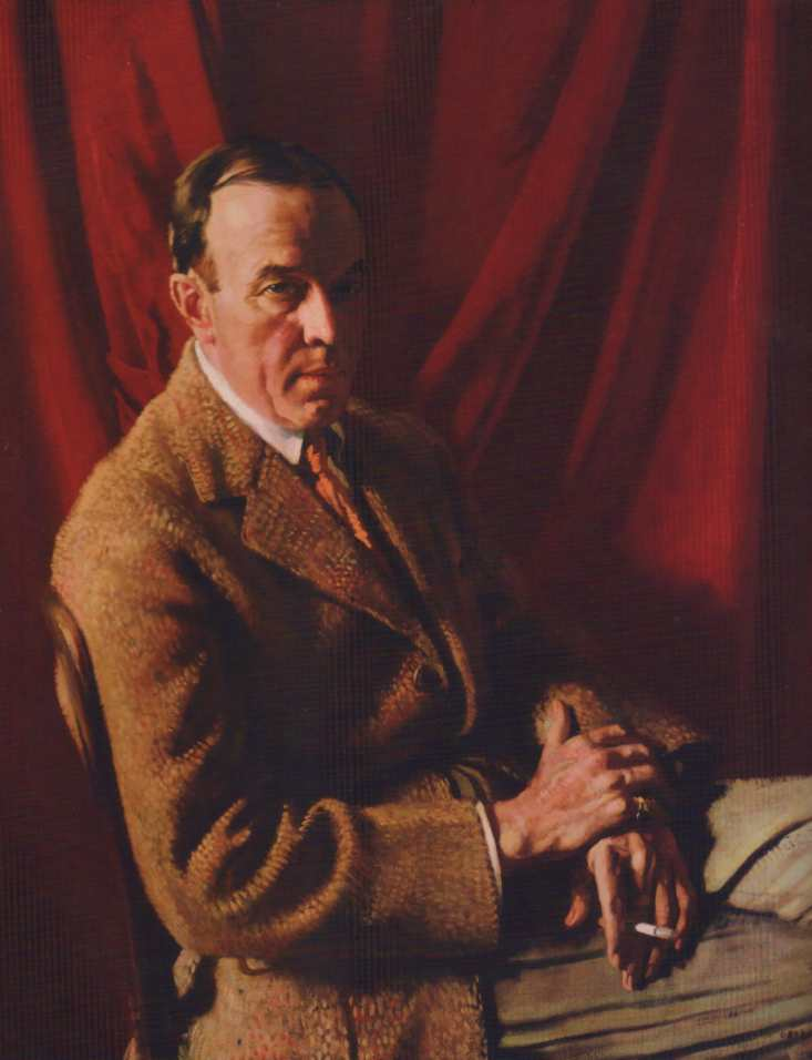 Stephen Carlton Clark, óleo sobre tela por William Newenham Montague Orpen (1878-1931, Ireland)