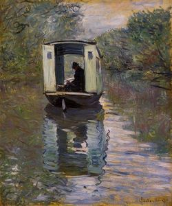 Claude Monet - the studio boat