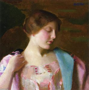William Macgregor Paxton - Estudo para Bellissima
