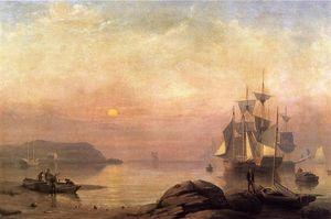 Fitz Hugh Lane - Nascer do sol completo bruma