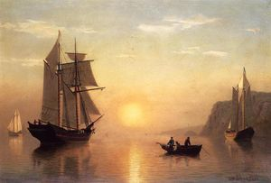 William Bradford - calma do sol no Baía de Fundy