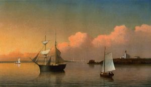 Fitz Hugh Lane - Por do sol fora Ten Pound Ilha