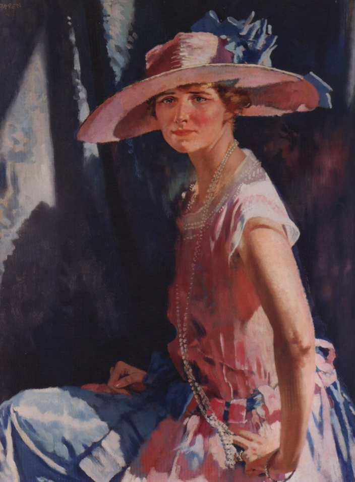 Susan Clark Vanderpoel, óleo sobre tela por William Newenham Montague Orpen (1878-1931, Ireland)