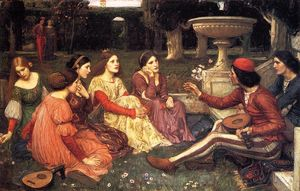John William Waterhouse - Uma conto do decameron