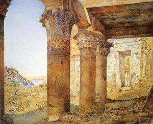 Henry Roderick Newman - Temple of Philae do Exterior Court