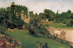 William Merritt Chase - terraço no shopping , Cantral Parque