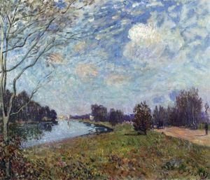 Alfred Sisley - A Tamisa em Hampton Court, East Molesey