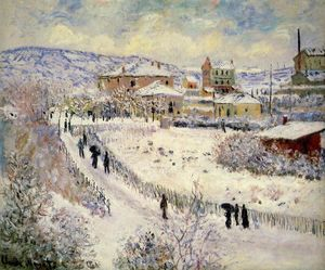 Claude Monet - vista de argenteuil no neve