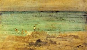 James Abbott Mcneill Whistler - Violet and Blue: The Little Banhistas, Perosquerie