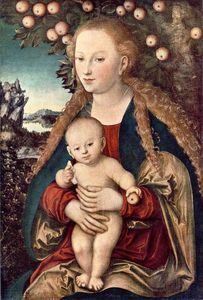 Lucas Cranach The Elder - a virgem e o menino