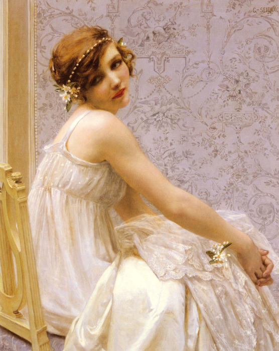 Virginite, óleo sobre tela por Guillaume Seignac (1870-1924, France)