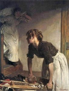William Newenham Montague Orpen - O Wash casa