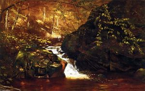 John George Brown - Cachoeira , Huntington , Massachusetts