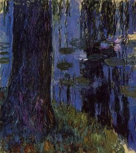Claude Monet - Weeping Willow and Water Lily Pond-